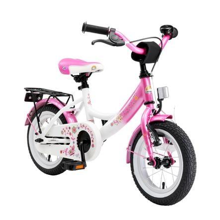 bikestar® Vélo enfant premium 12 pouces blanc/rose