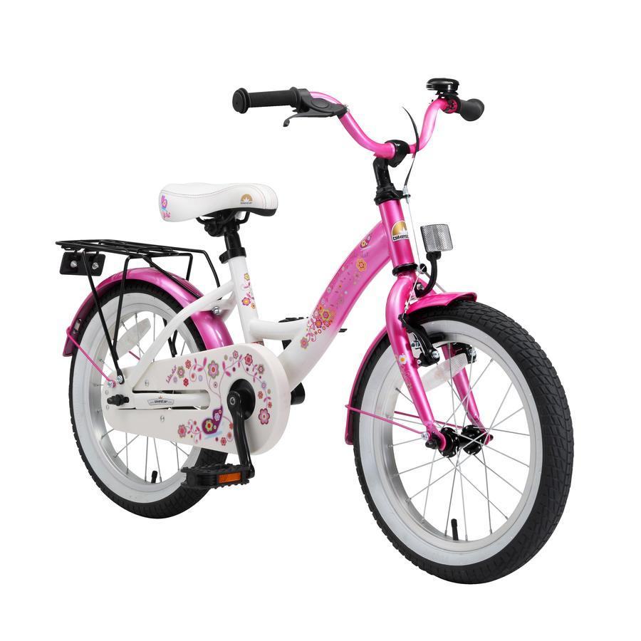 bikestar® Vélo enfant premium 16 pouces blanc/rose