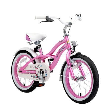 """bikestar Premium Sicherheits Kinderfahrrad 16"""" Cruiser Pink"""