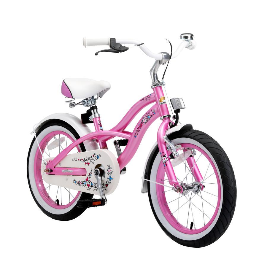 """bikestar Premium Design Kinderfahrrad 16"""" Pink"""