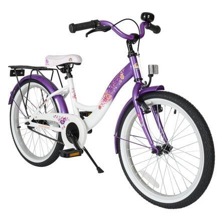 "bikestar® Vélo enfant premium 20"" blanc/violet"