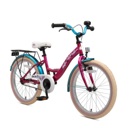 """bikestar Premium Sicherheits Kinderfahrrad 20"""" Classic Berry Türkis"""