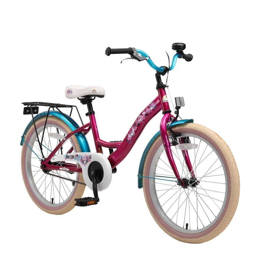 "bikestar Premium Sikkerhets Barnesykkel 20"" Classic Berry Turkis"