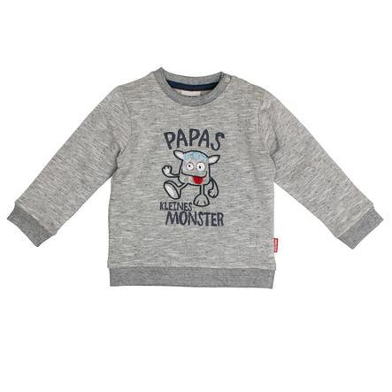 SALT AND PEPPER Boys Sweatshirt Monster grey melange