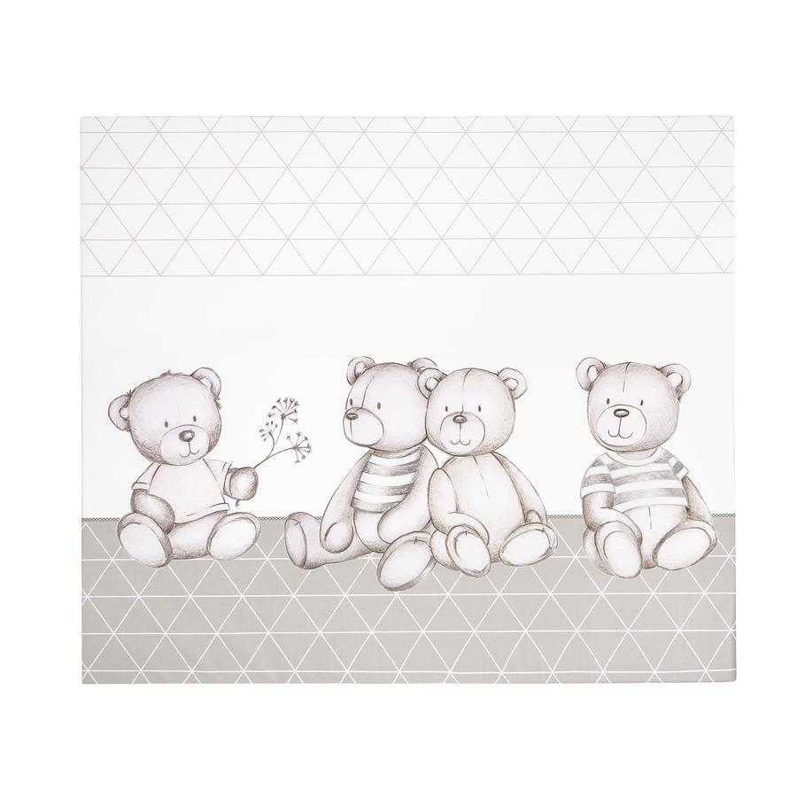 JULIUS ZÖLLNER Fóliová přebalovací podložka plochá medvídci taupe 75 x 85 x 2 cm