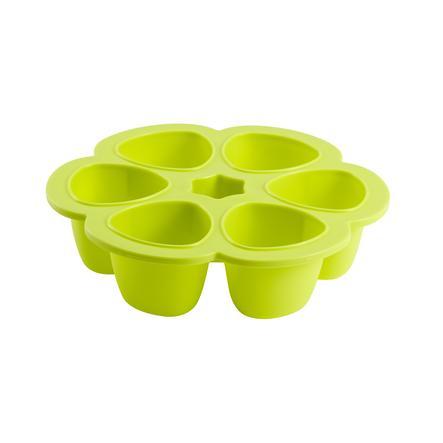 BEABA Aufbewahrungsbehälter Multiportions 6 x 90 ml grün