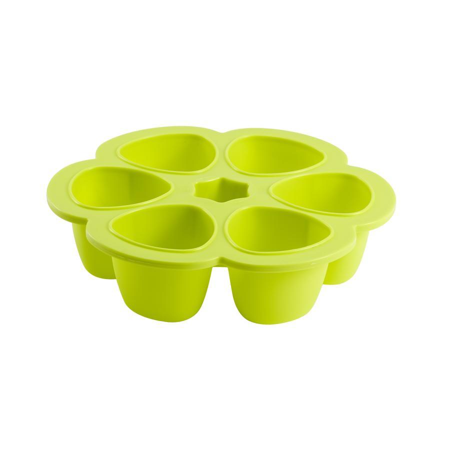 BEABA Multiporzioni a Fiori- per Freezer, verde