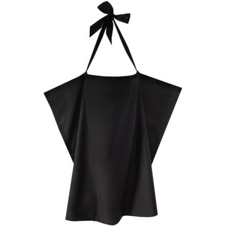 ZELLMOPS Châle d'allaitement Black taille large 86x86, noir