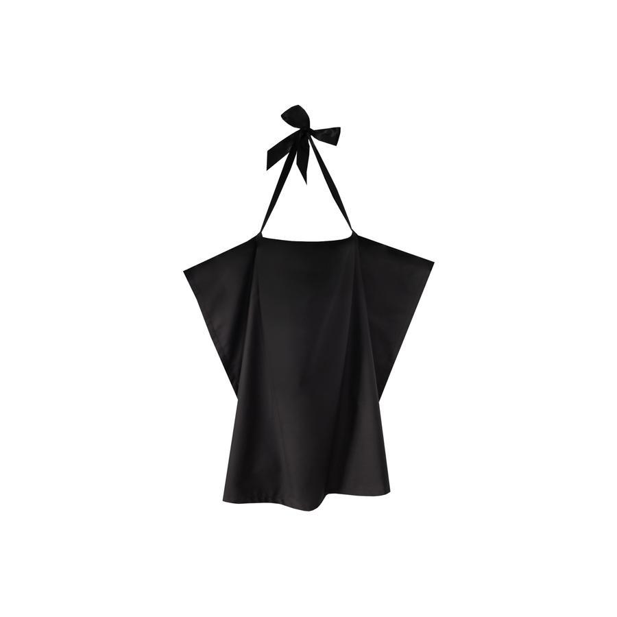 ZELLMOPS Bio Pañuelo de lactancia Negro tamaño grande (86x86), negro