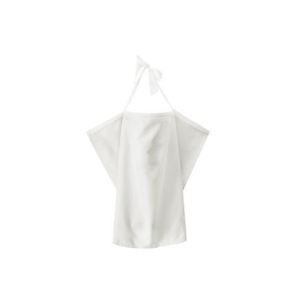 ZELLMOPS Bio zástěna na kojení s krajkou Mráček Large velikost 86x86, bílá