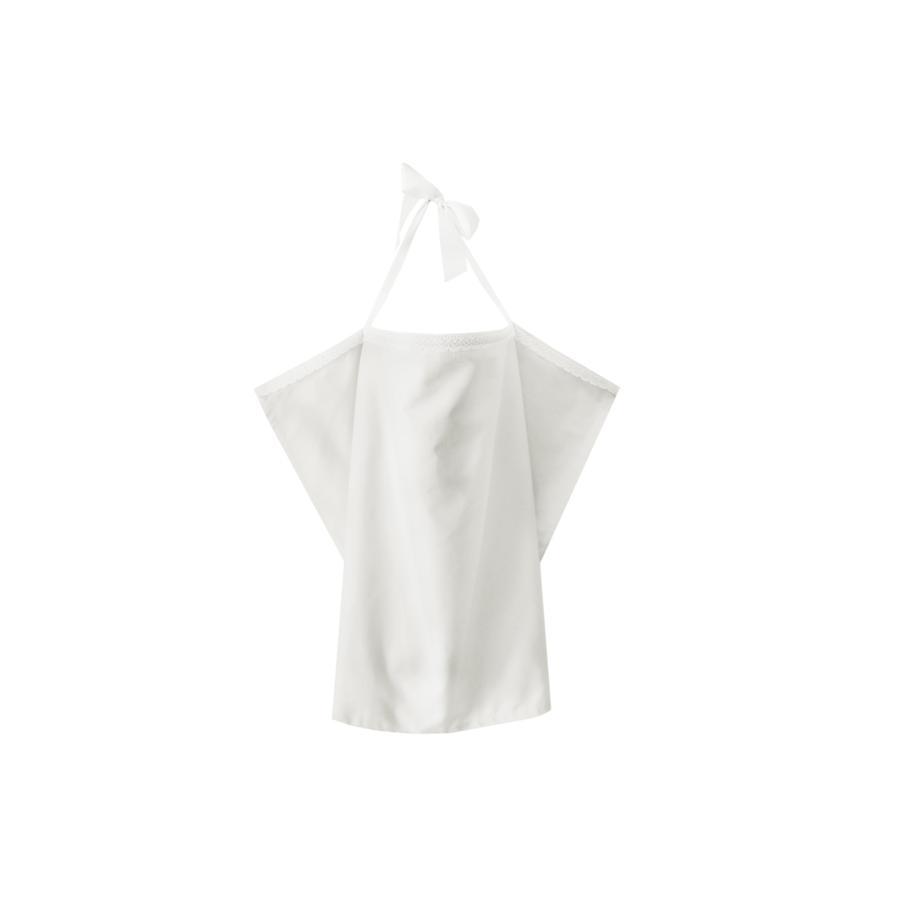ZELLMOPS Organische Kantkant Verzorgingsdeken Wolk Large 86x86, wit, wit