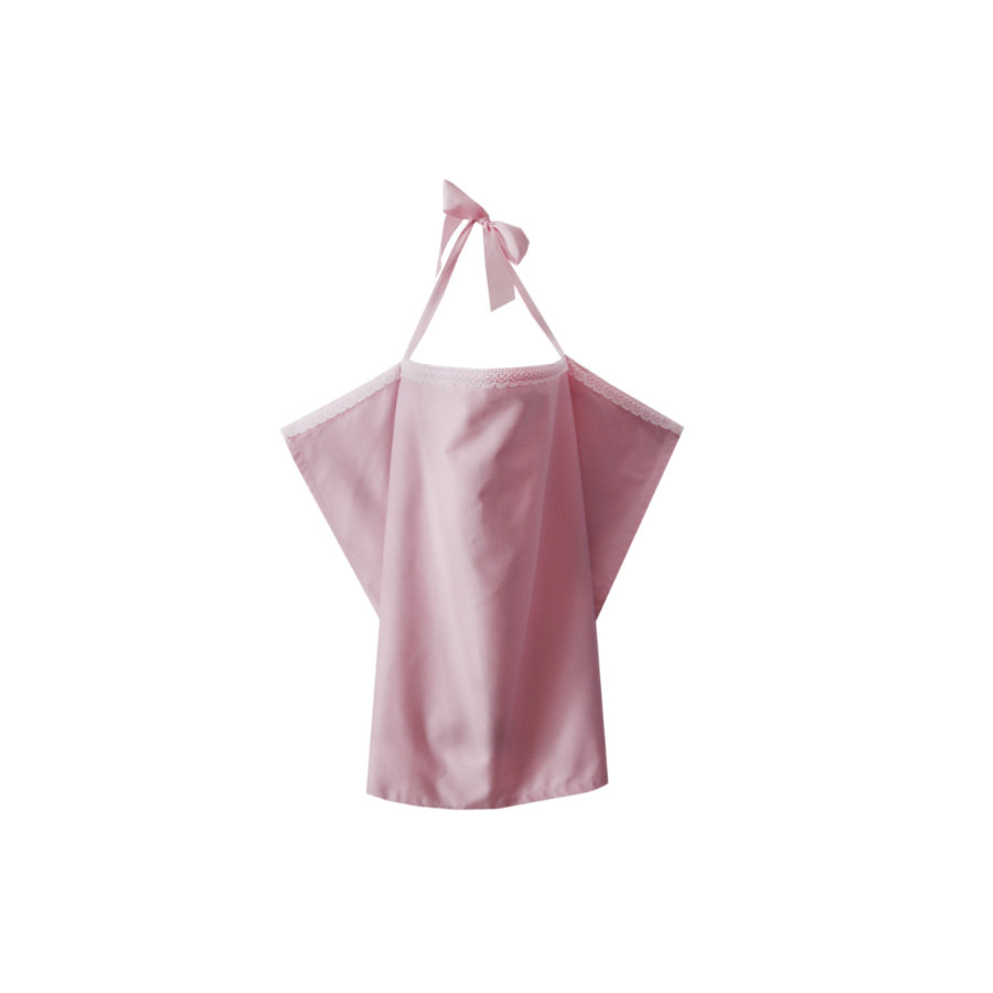 ZELLMOPS Bio zástěna na kojení Bonbon Basic velikost 86x61, růžová