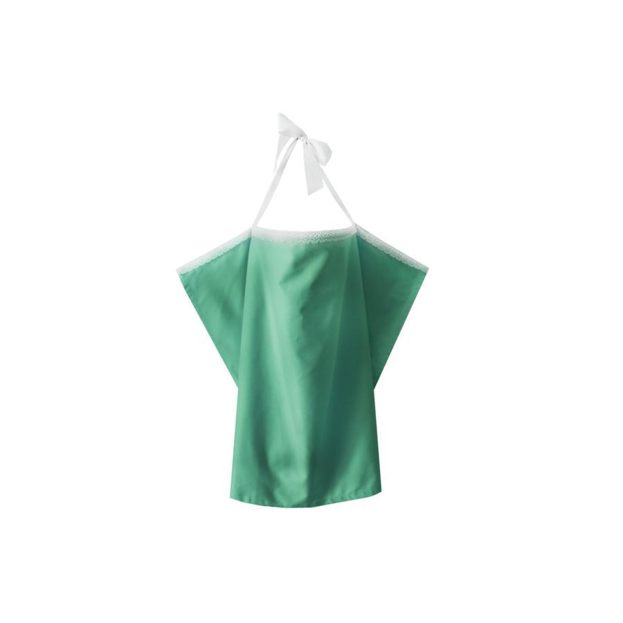 ZELLMOPS Bio krajková Zástěna na kojení louka Large velikost 86x86, zelená
