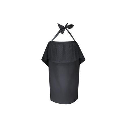 ZELLMOPS Chusta do karmienia z koronką Fabienne, Basic Size 86x86, czarna