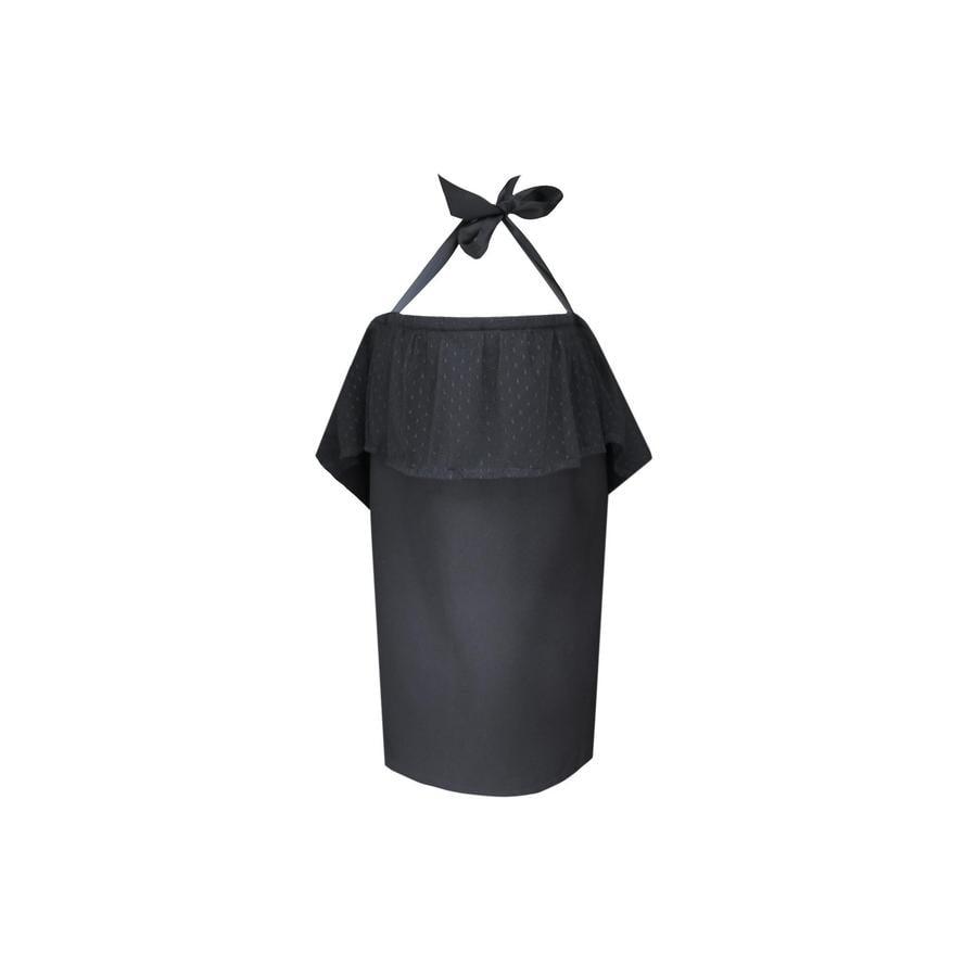 ZELLMOPS krajková Zástěna na kojení Fabienne Basic velikost 86x61, černá