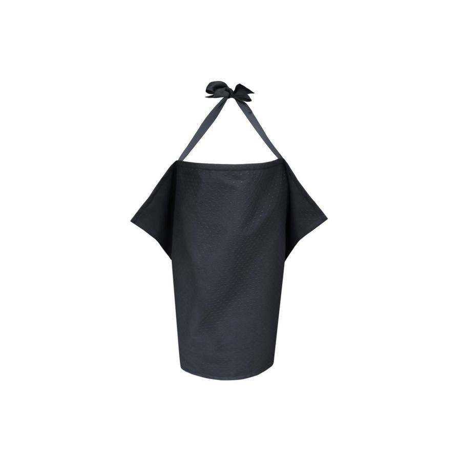ZELLMOPS krajková zástěna na kojení Marilou Basic velikost 86x61, černá