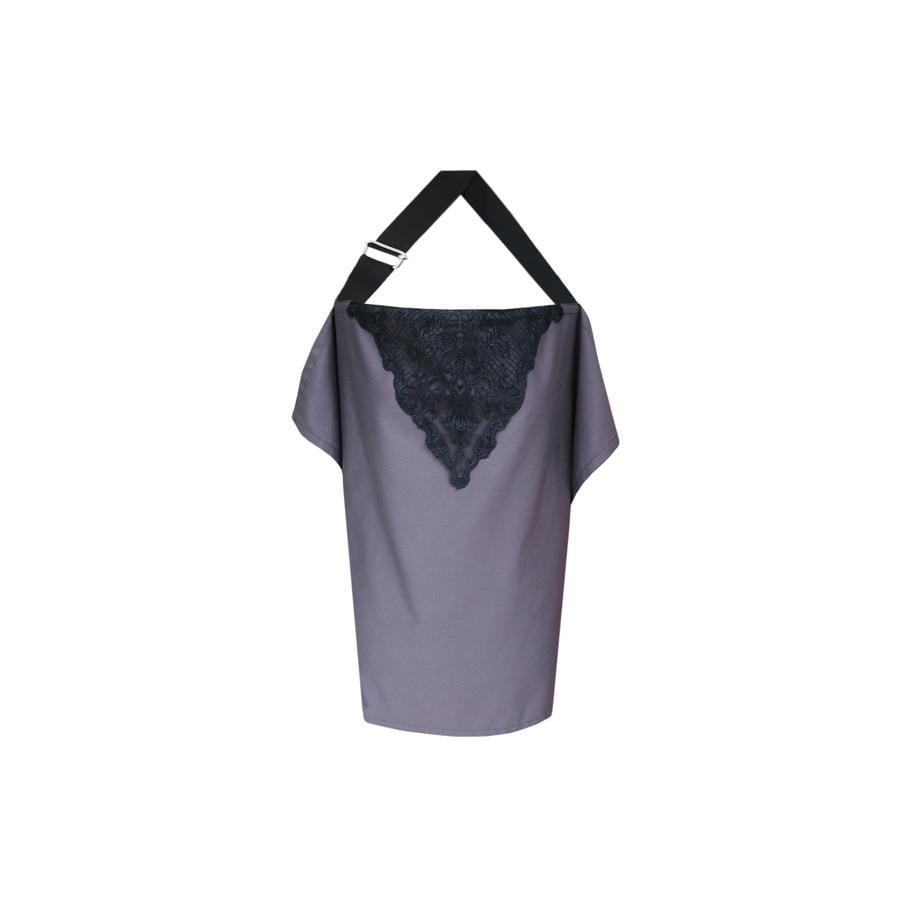 ZELLMOPS Bio Chusta do karmienia z koronką Vivienne, Basic Size 86x61, fioletowa