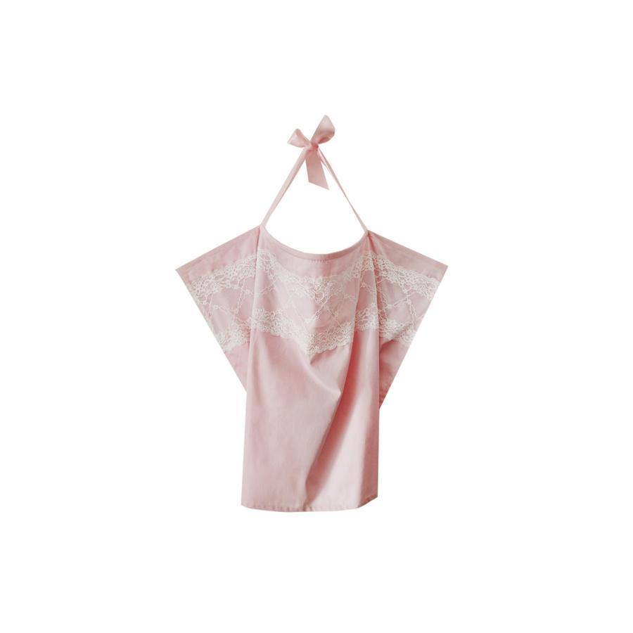 ZELLMOPS Bio Chusta do karmienia z koronką Loreley, Basic Size 86x61, różowa