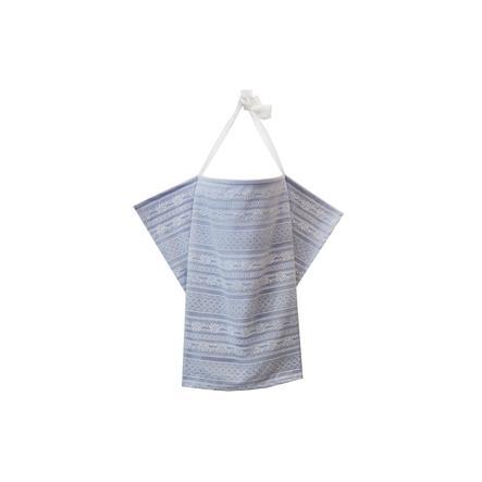 ZELLMOPS krajková Zástěna na kojení München Basic velikost 86x61, šedo modrá