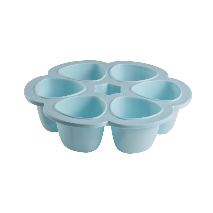 BEABA Bewaarbak Multiporties blauw 6 x 150 ml
