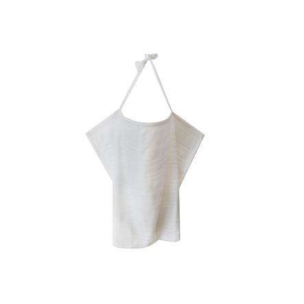 ZELLMOPS krajková Zástěna na kojení Boho Basic velikost 86x61, šedo bílá