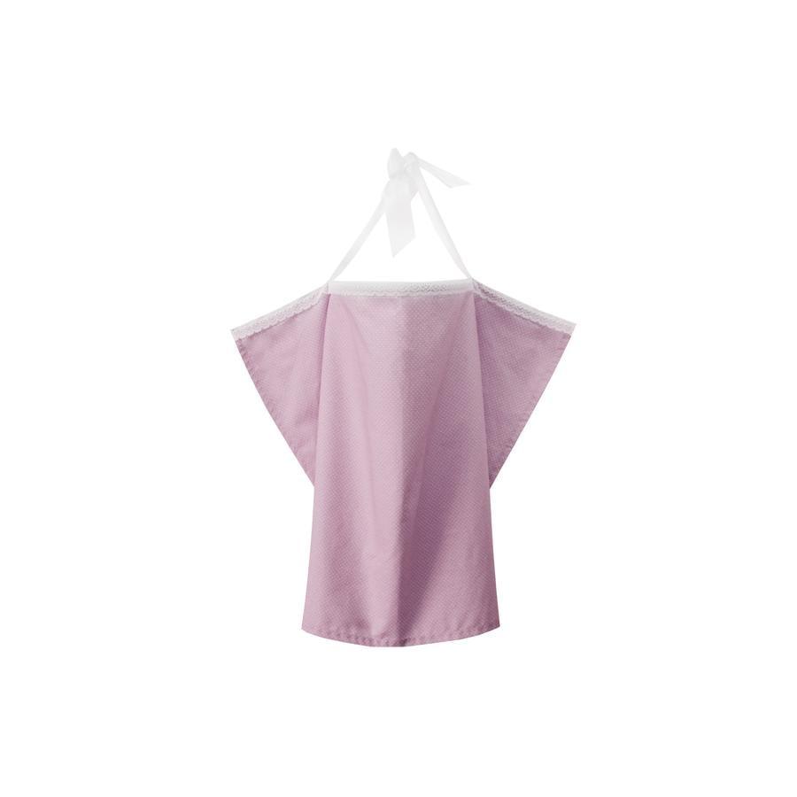 ZELLMOPS Bio Chusta do karmienia z koronką Silke, Large Size 86x86, różowa