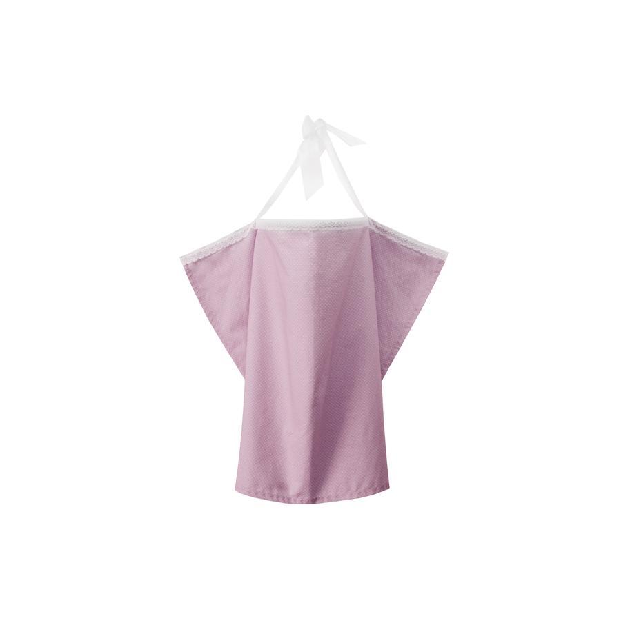 ZELLMOPS Châle d'allaitement Silke taille large 86x86, rose