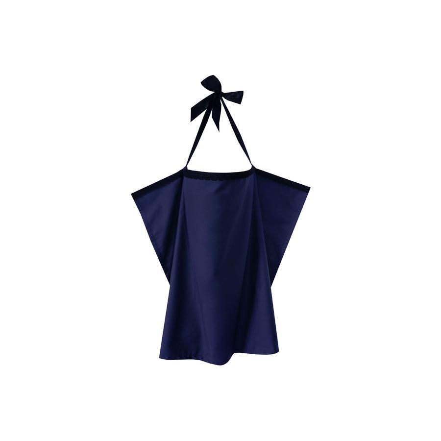 ZELLMOPS Châle d'allaitement Saphira taille large 86x86, bleu
