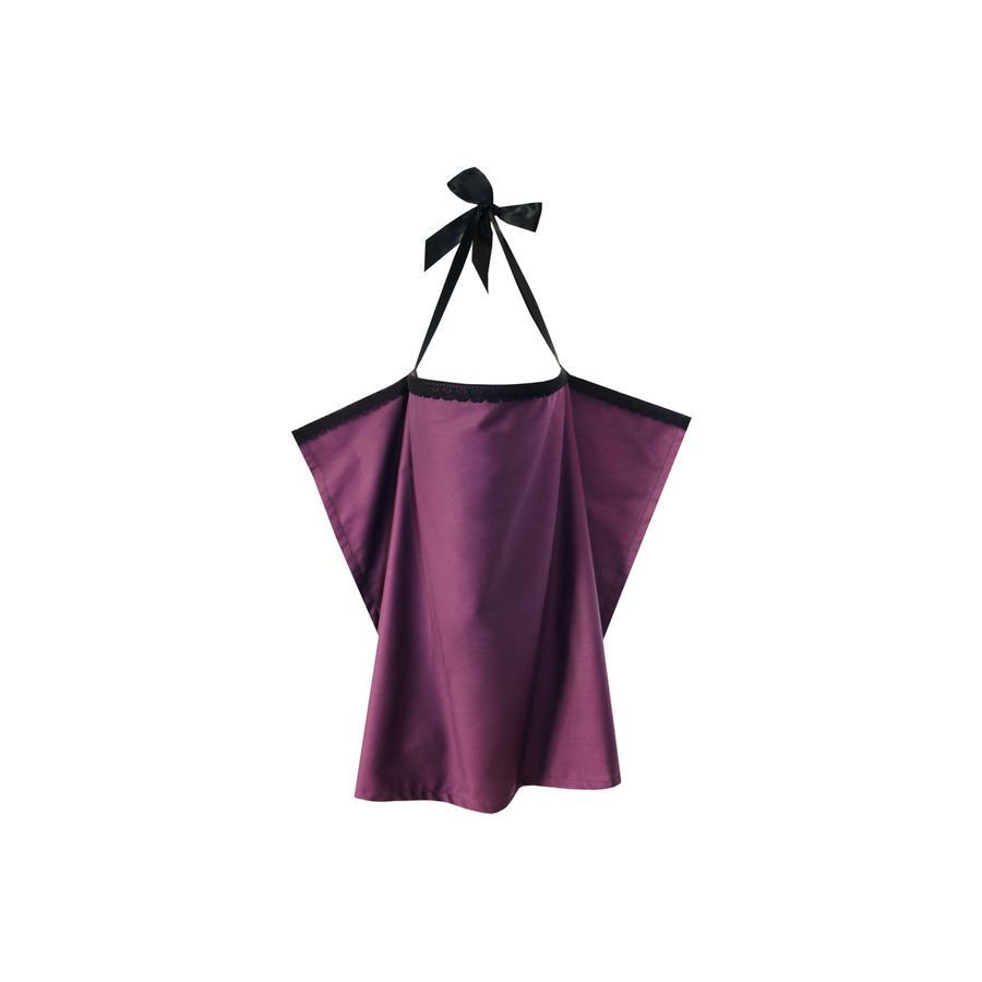 ZELLMOPS Krajková zástěna na kojení Purpur velikost Large Size 86x86, lila