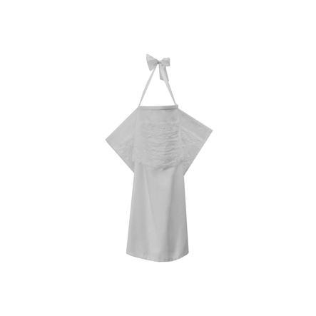 ZELLMOPS Châle d'allaitement Braut taille large 86x86, blanc