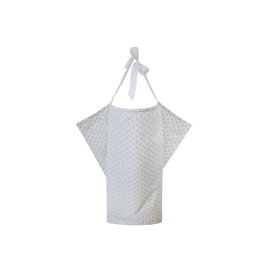 ZELLMOPS Châle d'allaitement Millefleur taille large 86x86, blanc