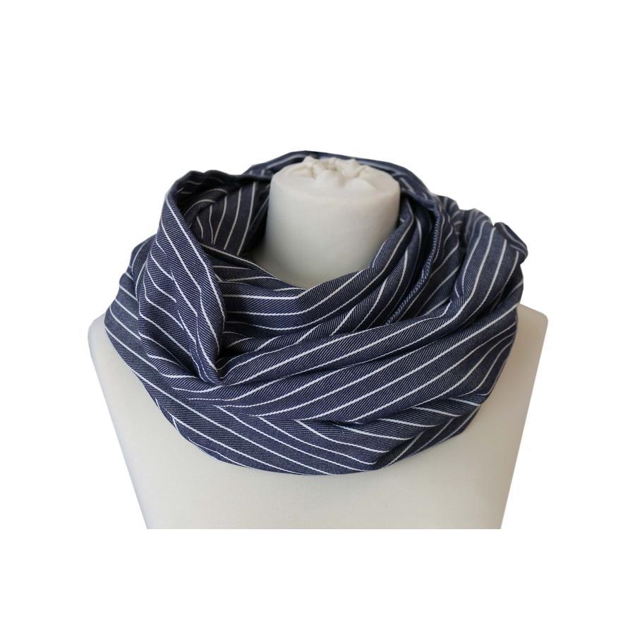 ZELLMOPS Verpleegkundige sjaal Ahoi, blauw-wit gestreept
