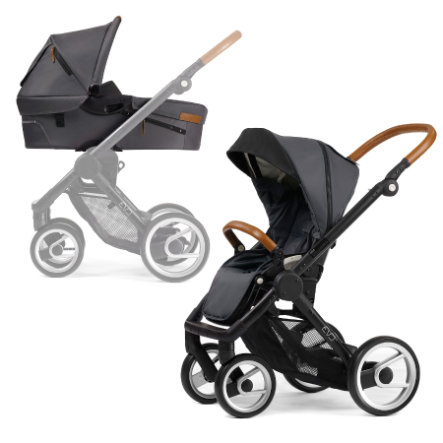 mutsy EVO Kombi-Kinderwagen komplett Black/Dark Grey URBAN NOMAD Edition