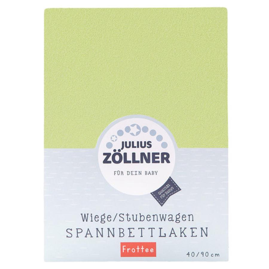 JULIUS ZÖLLNER Stræklagen Frottee til vugge Grøn 40x90cm