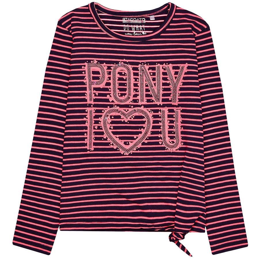STACCATO Girls Sweatshirt coral Streifen