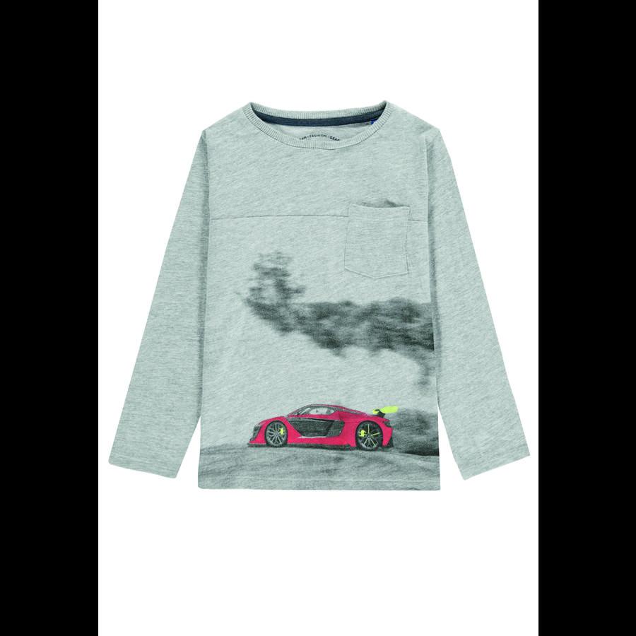 TOM TAILOR Boys shirt met lange mouwen grijs