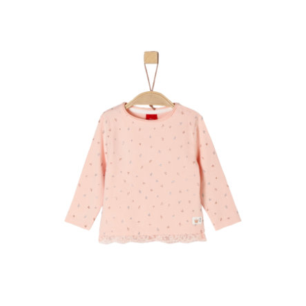 s. Olive r Girls Langærmet skjorte med lyserøde prikker