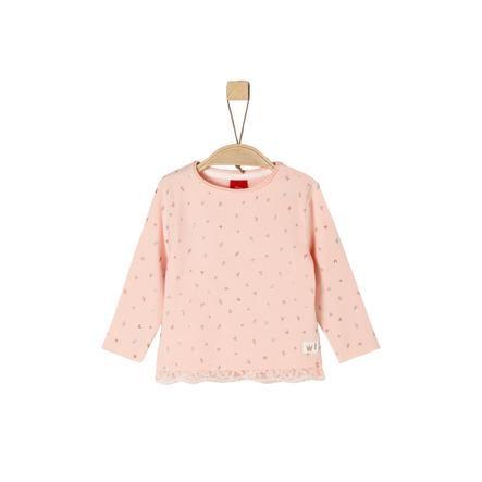 s.Oliver Girl camicia manica lunga s camicia a pois rosa