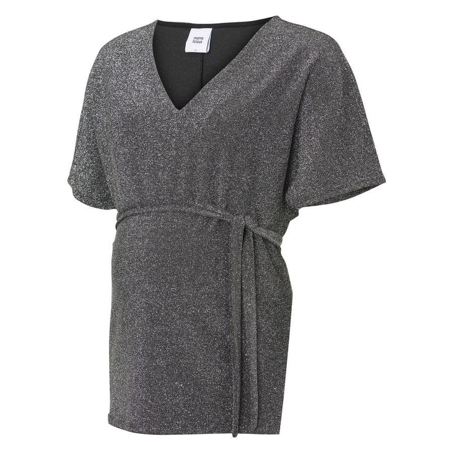 mama licious těhotenská košile MLANNA Silver Lurex
