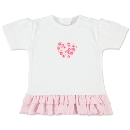 pink or blue Girls T-shirt à froufrous, Flowers, rose/blanc