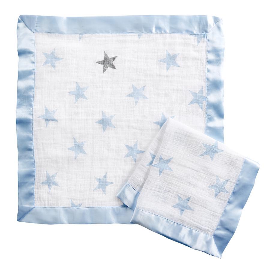 aden® Schmusetücher dapper blau 2er Pack