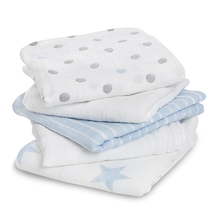 aden® Manta para bebé dapper azul Paquete de 5 unidades