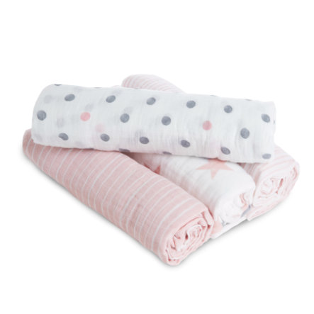 aden® Hydrofiele doek Doll roze 4stuks