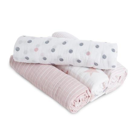 aden® Pucktücher doll rosa 4er Pack