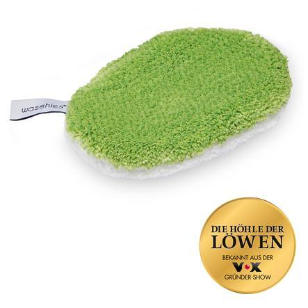 waschies® Coussinets réutilisables de toilette bébé vert/blanc 2 pièces