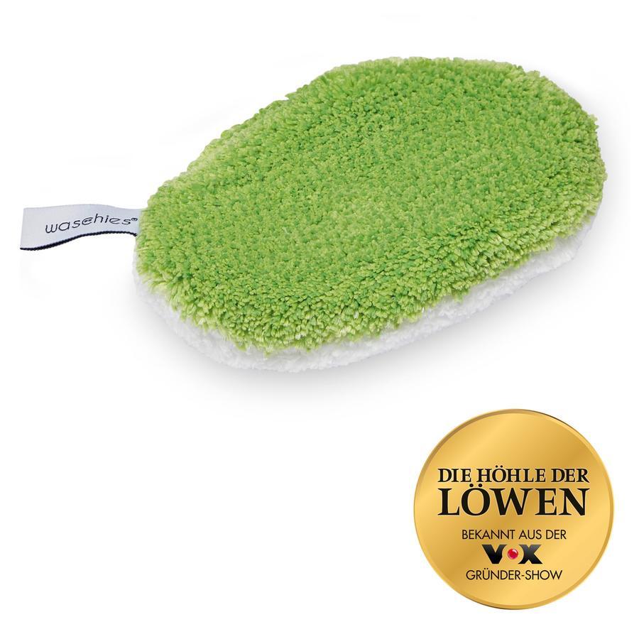 waschies set Baby-Pads van 2 groen/wit