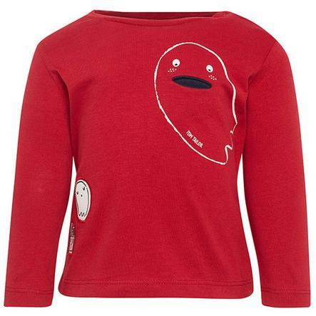 TOM TAILOR Boys koszula z długim rękawem, czerwona