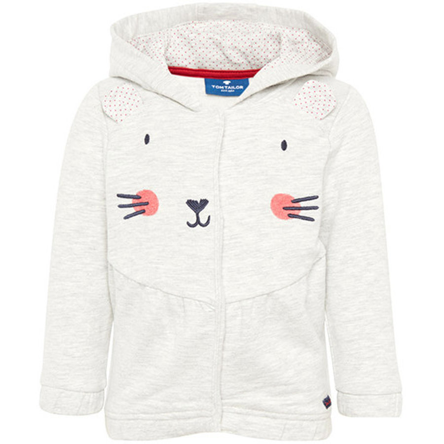 TOM TAILOR Girl s Sweat jacket avec application souris