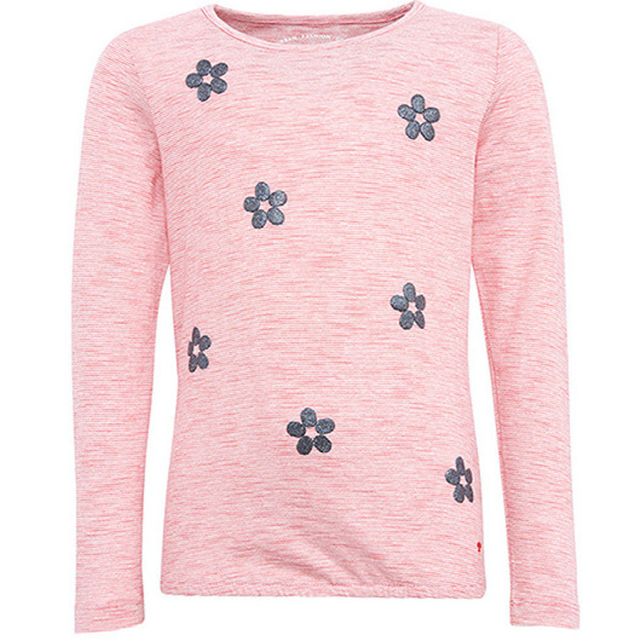 TOM TAILOR Girls Langarmshirt Blümchen, rosa