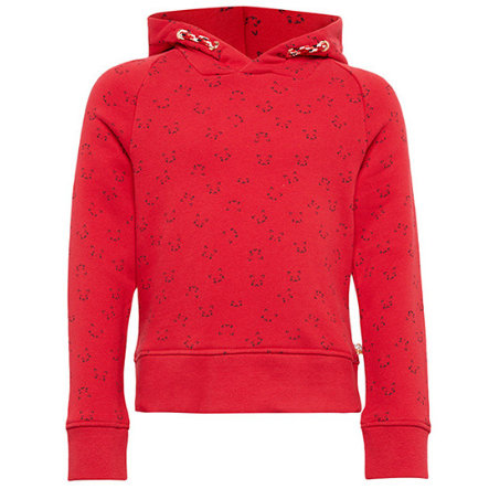 TOM TAILOR Girls Sweatshirt mit Kapuze, rot